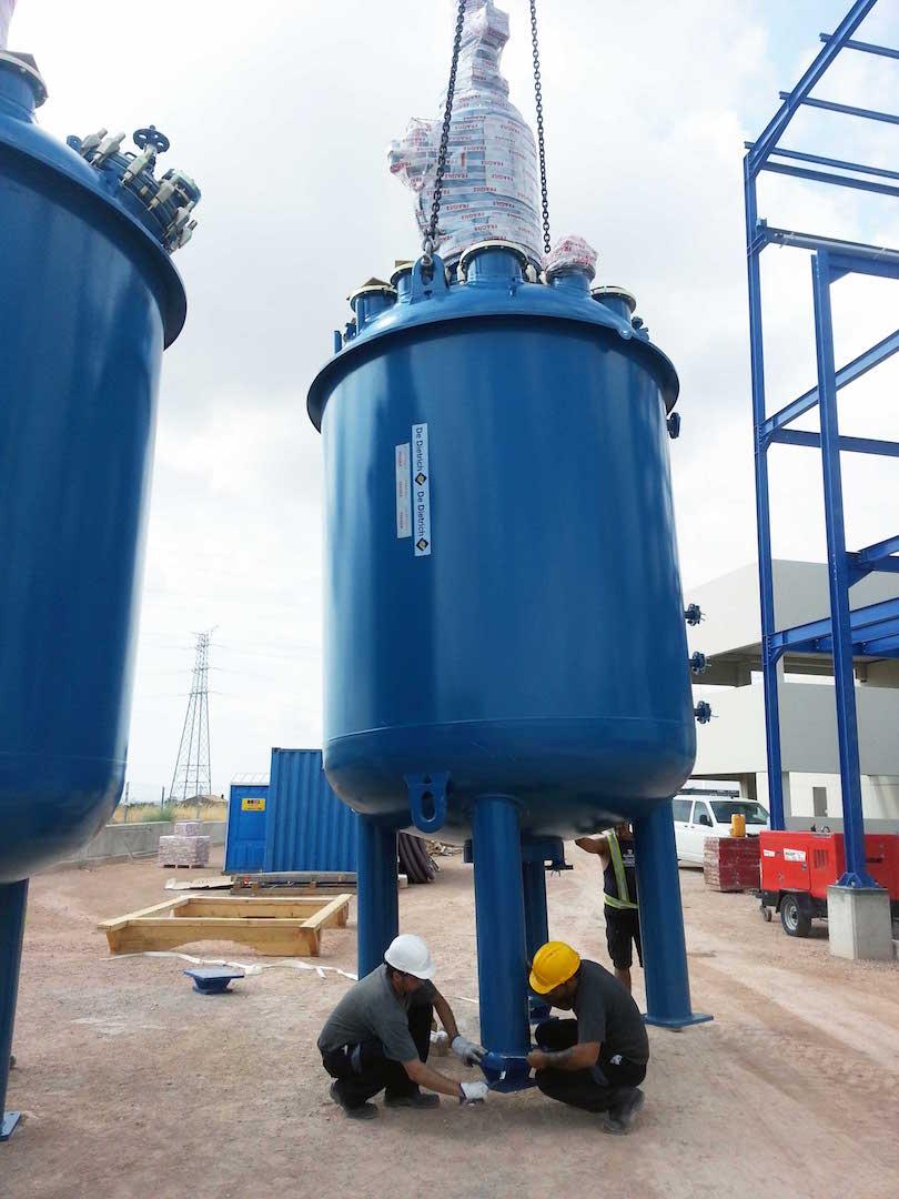Montaje Reactores e Intercambiadores en Petroquímica