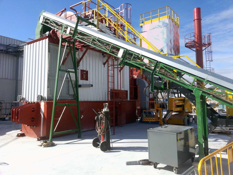 Montaje de Caldera de Biomasa